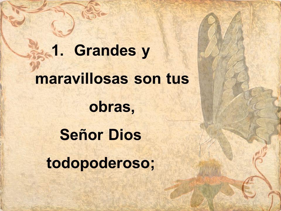 Grandes y maravillosas son tus obras, Señor Dios todopoderoso;