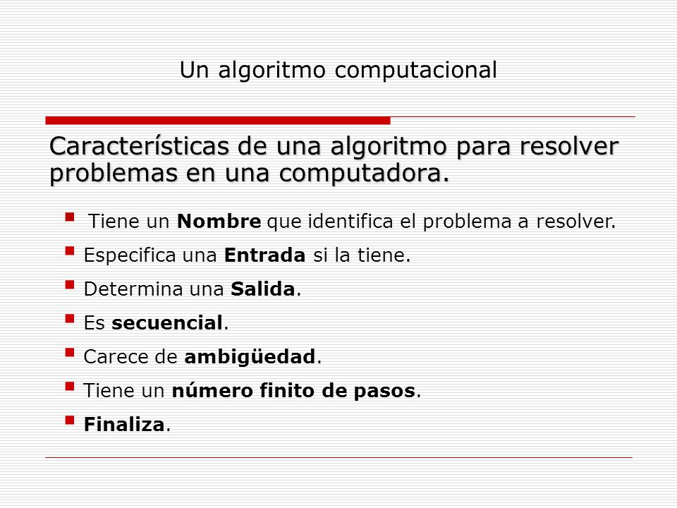 Un algoritmo computacional