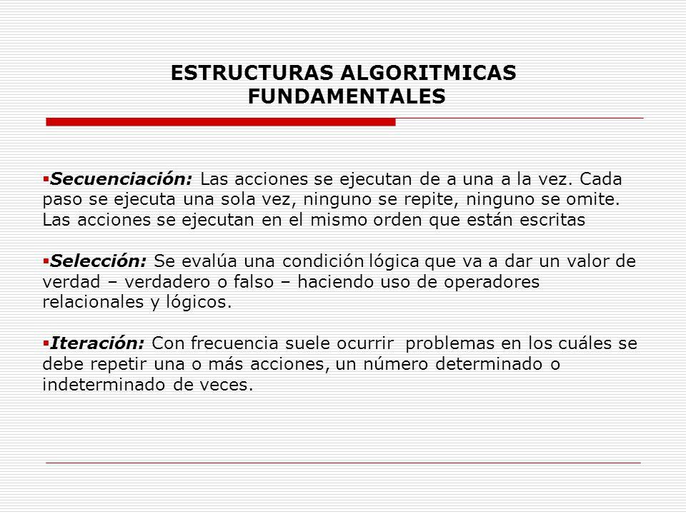 ESTRUCTURAS ALGORITMICAS FUNDAMENTALES