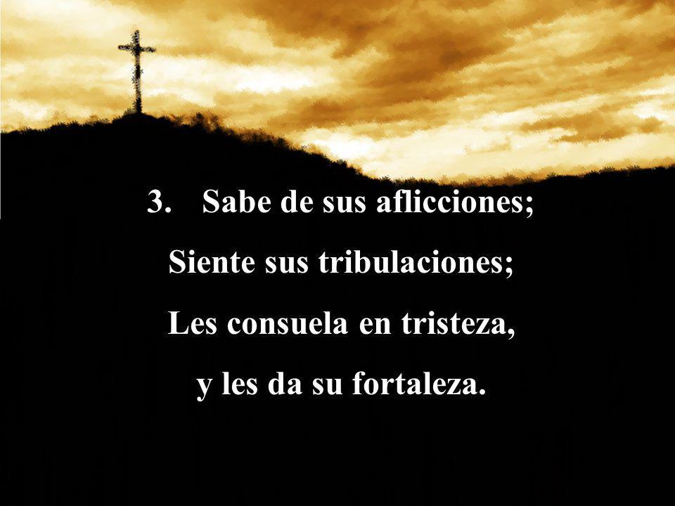 Sabe de sus aflicciones; Siente sus tribulaciones;