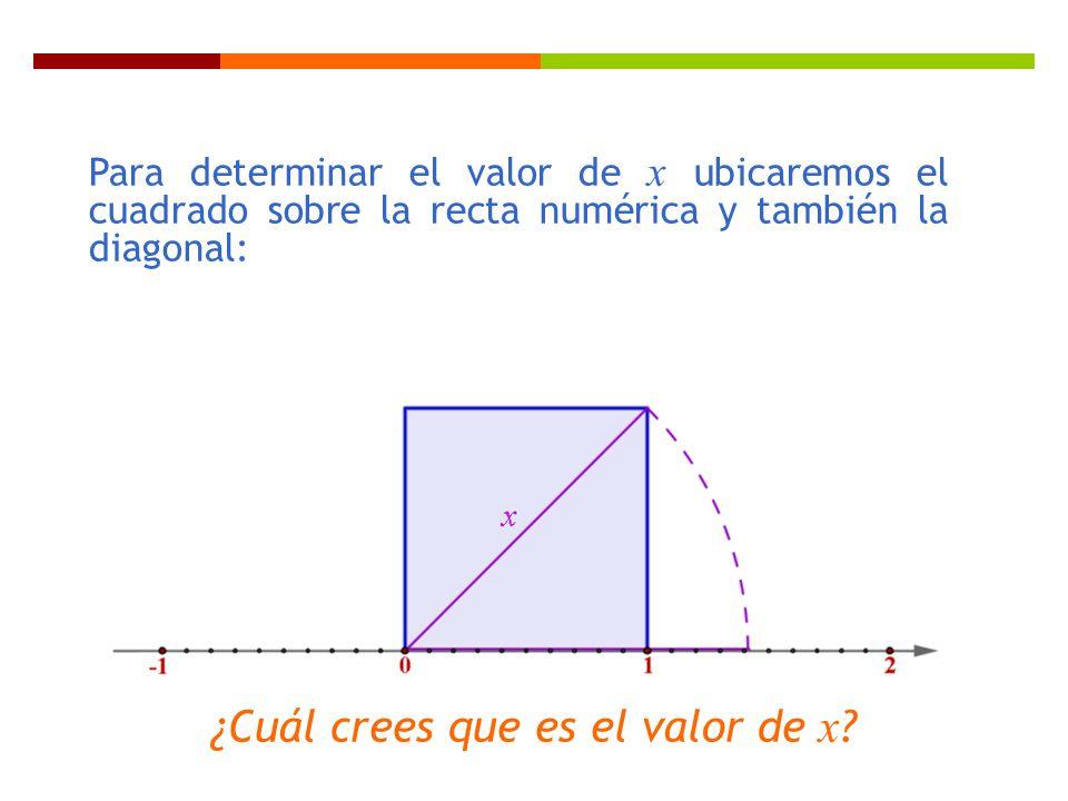 ¿Cuál crees que es el valor de x