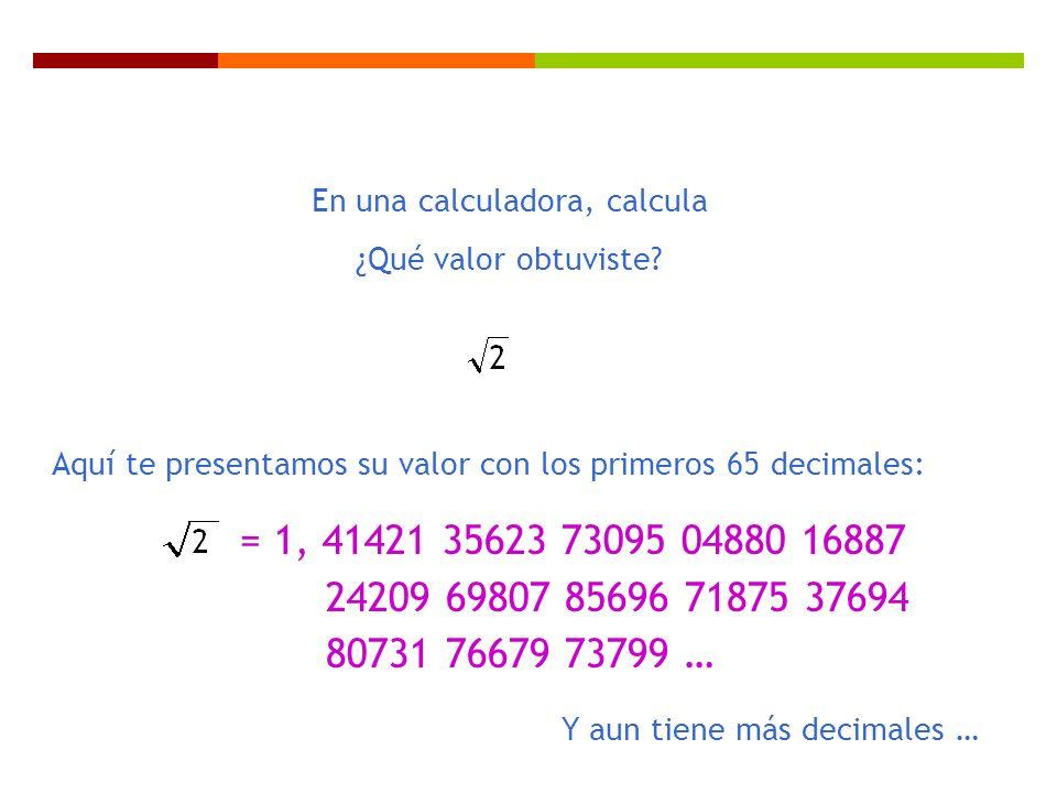 En una calculadora, calcula