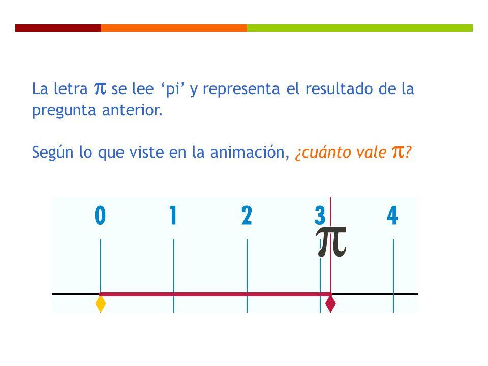 La letra  se lee 'pi' y representa el resultado de la pregunta anterior.