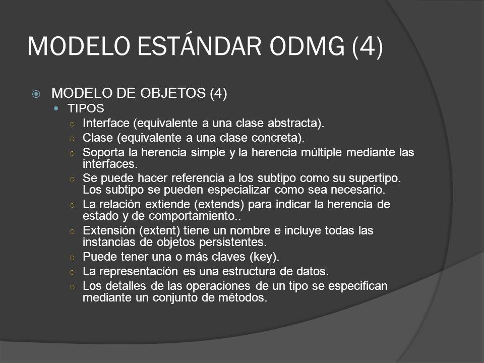 MODELO ESTÁNDAR ODMG (4)