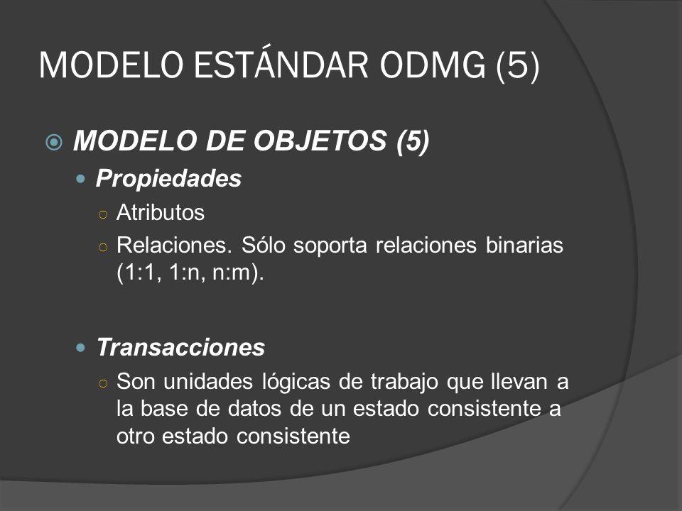 MODELO ESTÁNDAR ODMG (5)