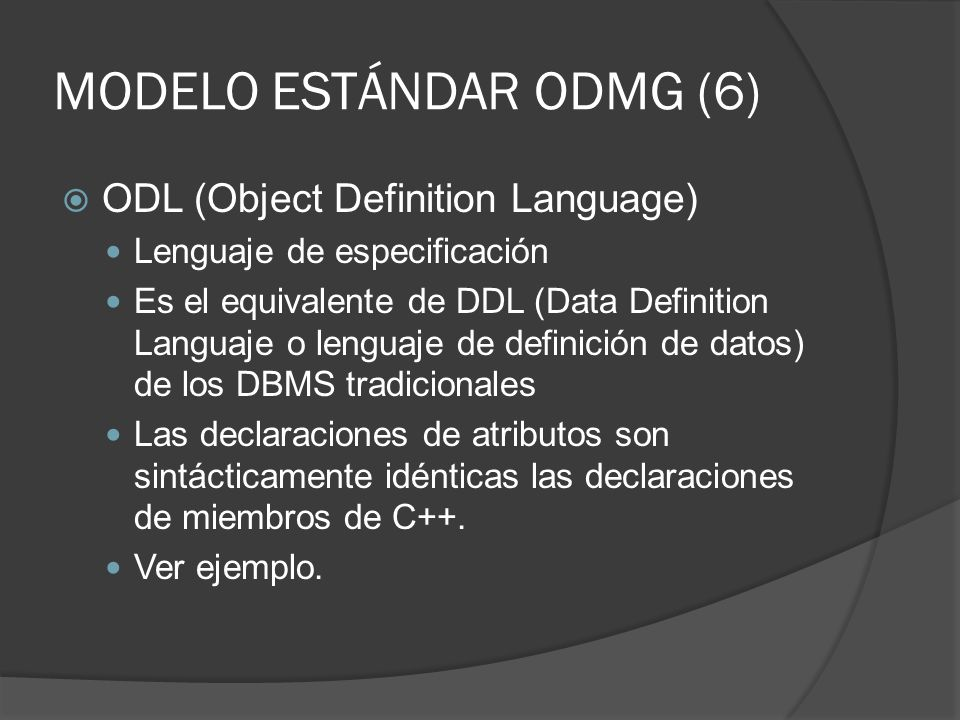 MODELO ESTÁNDAR ODMG (6)