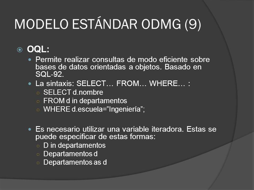 MODELO ESTÁNDAR ODMG (9)