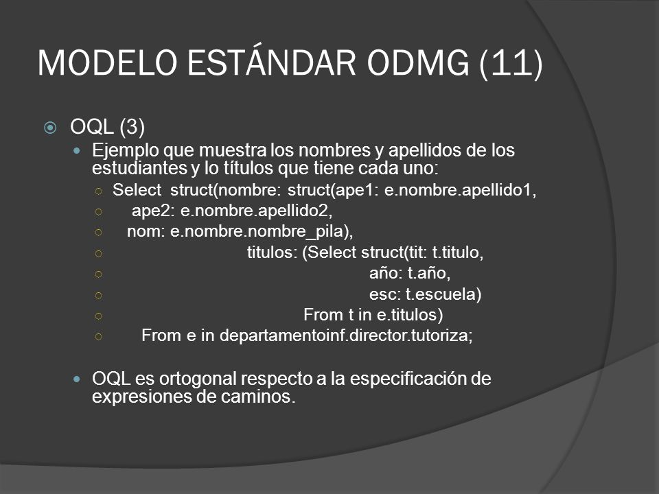 MODELO ESTÁNDAR ODMG (11)