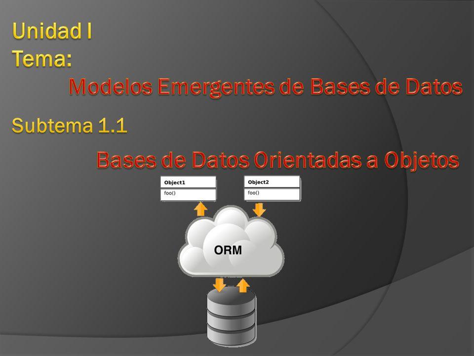 Modelos Emergentes de Bases de Datos