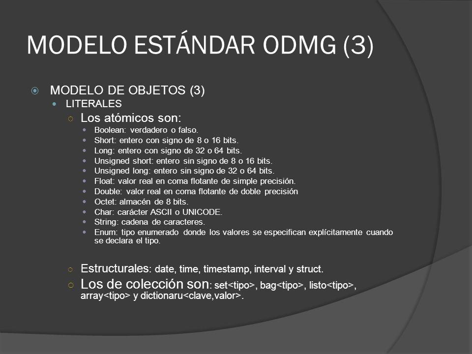 MODELO ESTÁNDAR ODMG (3)