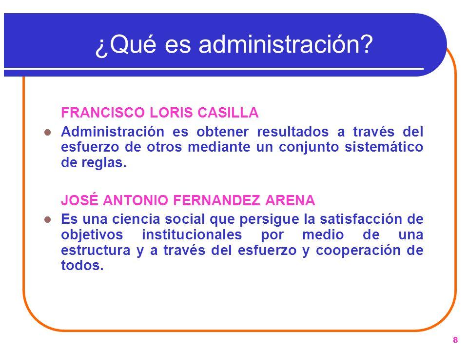 ¿Qué es administración