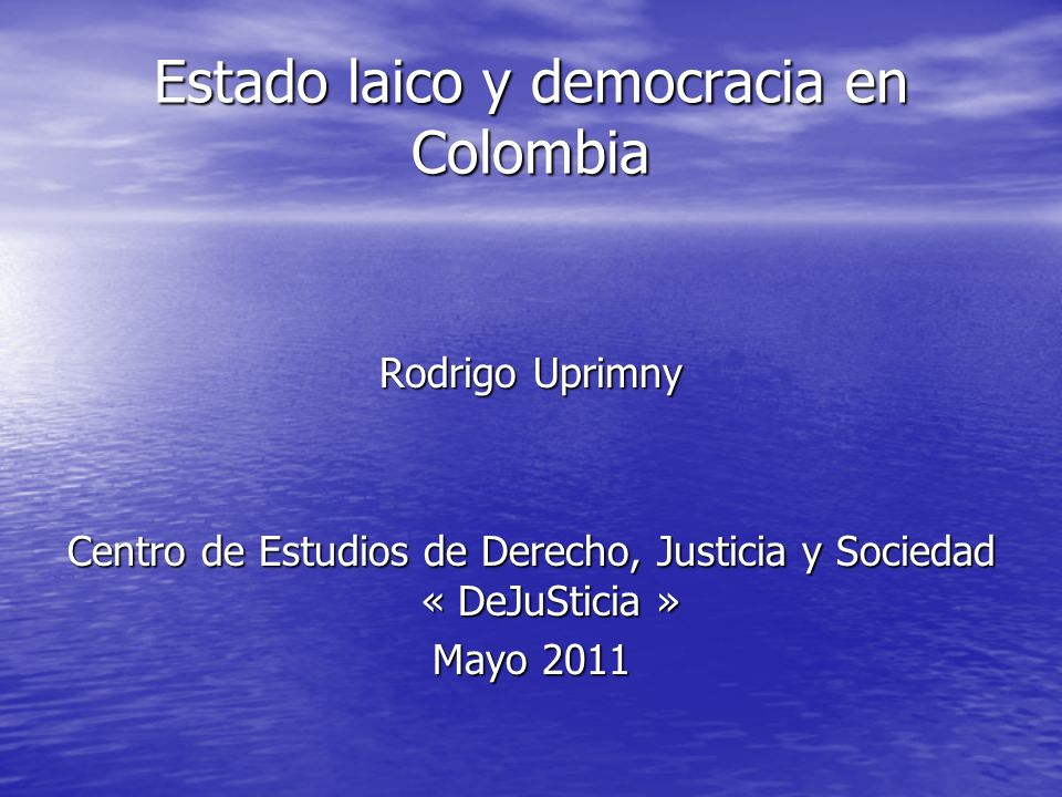Estado laico y democracia en Colombia