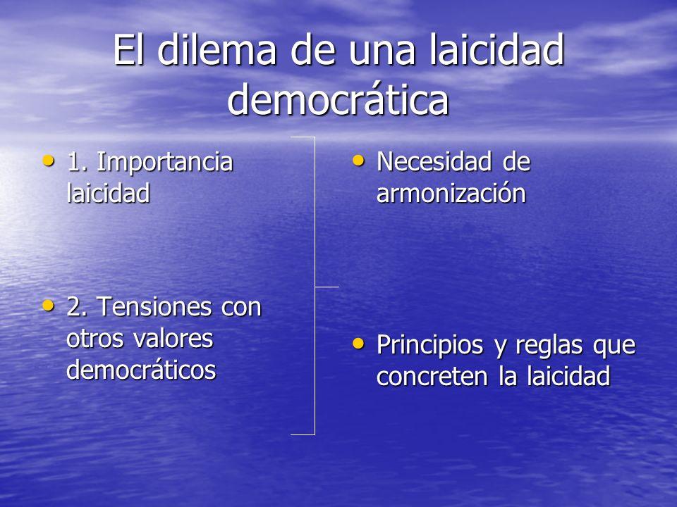 El dilema de una laicidad democrática