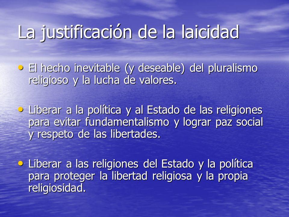 La justificación de la laicidad