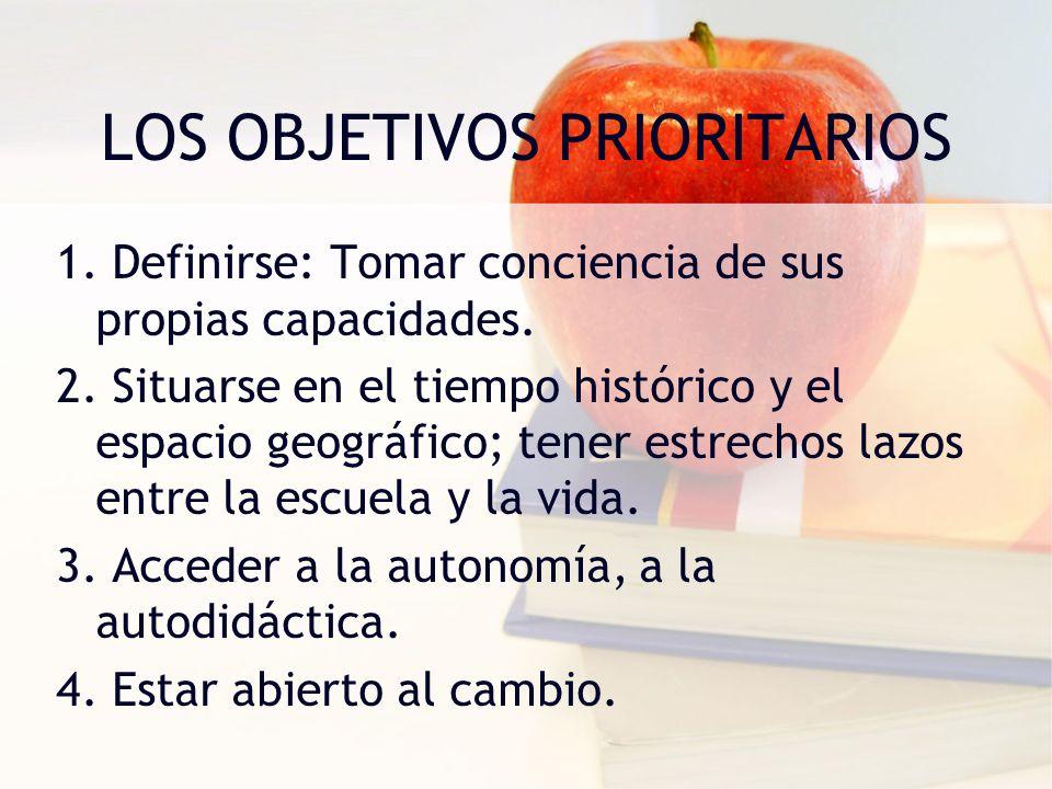 LOS OBJETIVOS PRIORITARIOS