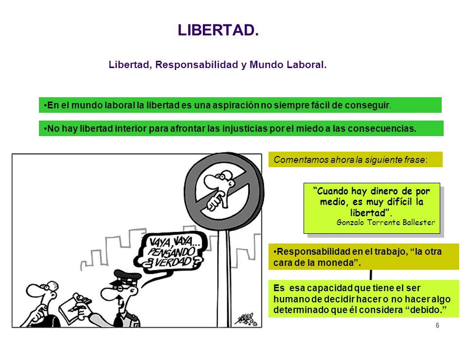 LIBERTAD. Libertad, Responsabilidad y Mundo Laboral.