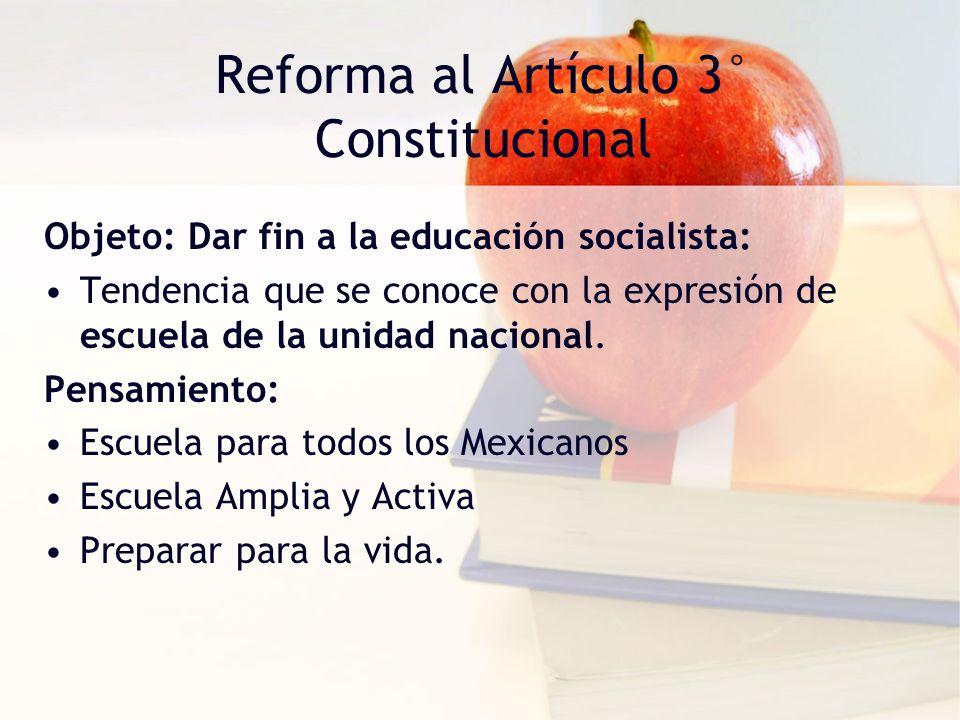 Reforma al Artículo 3° Constitucional