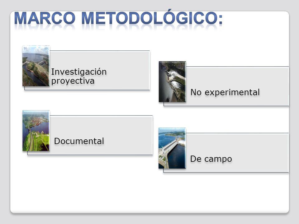 MARCO METODOLÓGICO: Investigación proyectiva No experimental