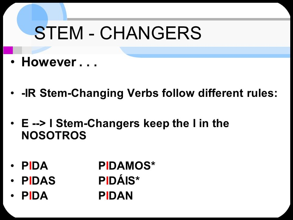STEM - CHANGERS However . . .