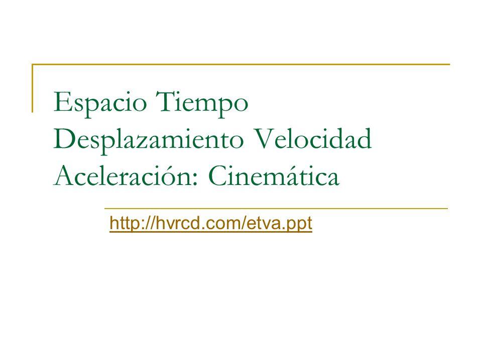 Espacio Tiempo Desplazamiento Velocidad Aceleración: Cinemática
