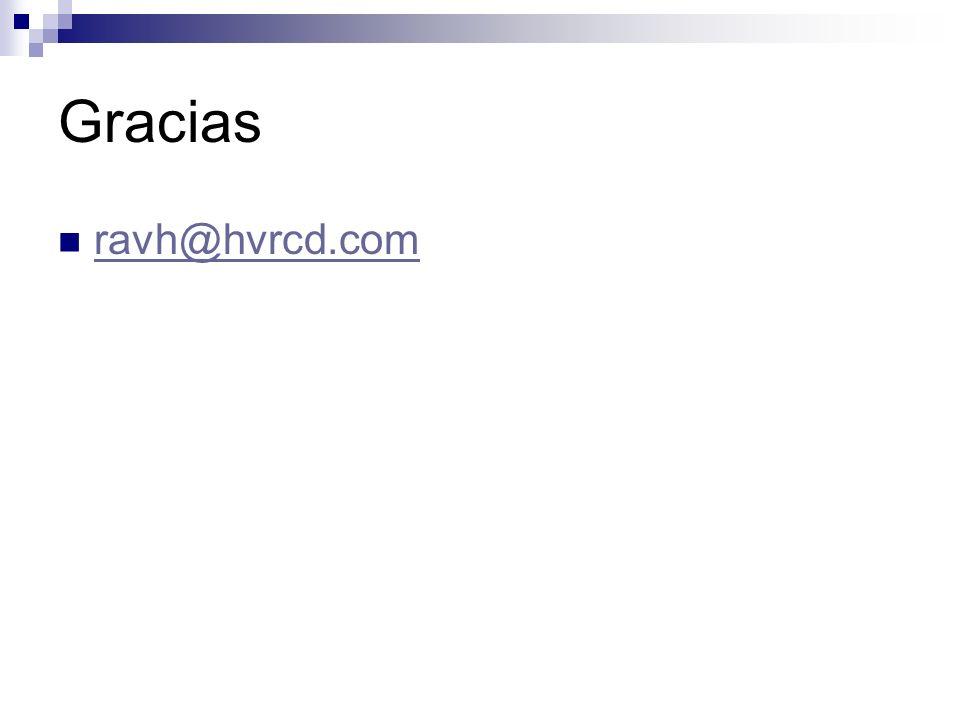 Gracias ravh@hvrcd.com