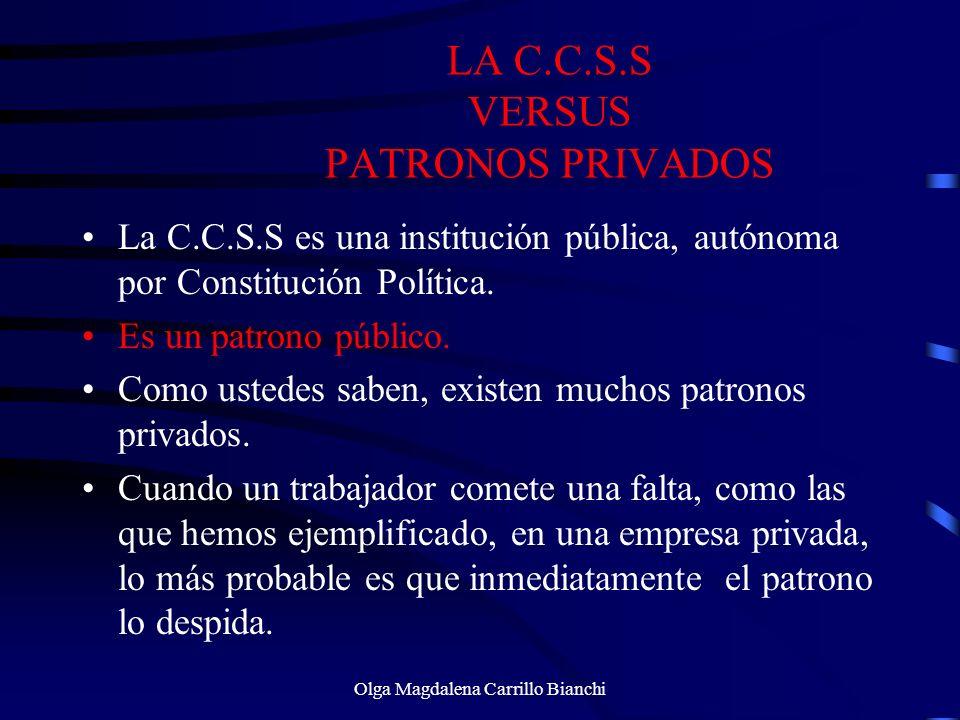 LA C.C.S.S VERSUS PATRONOS PRIVADOS
