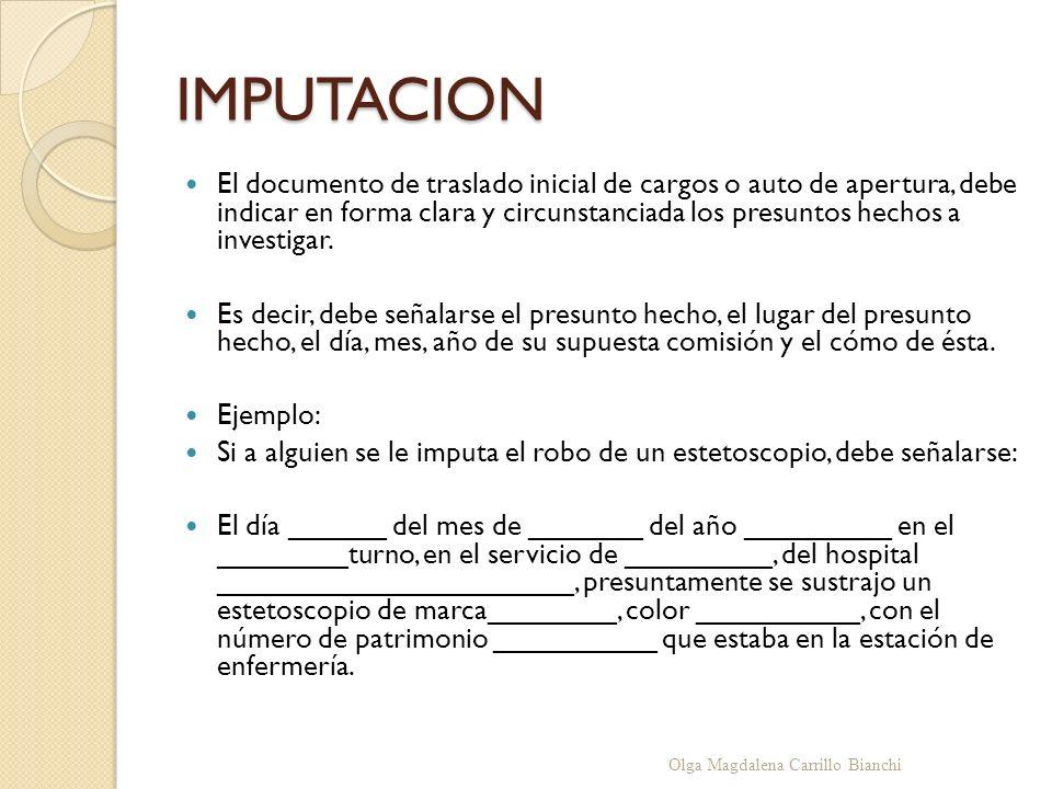 IMPUTACION