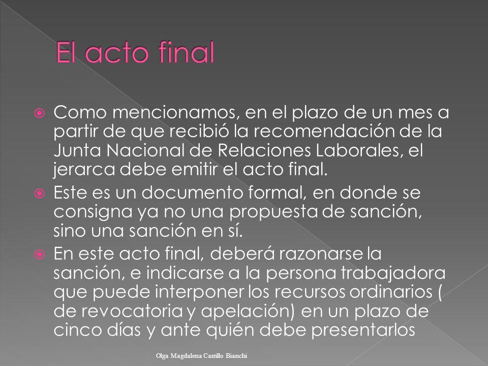 El acto final