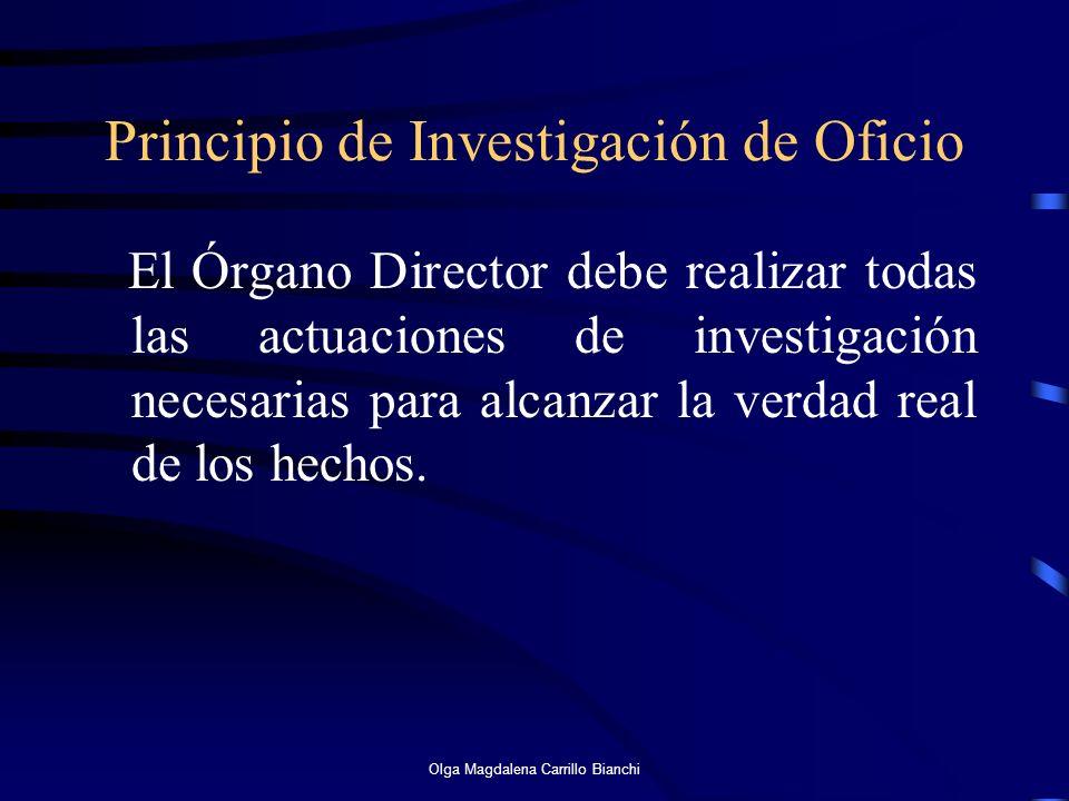 Principio de Investigación de Oficio
