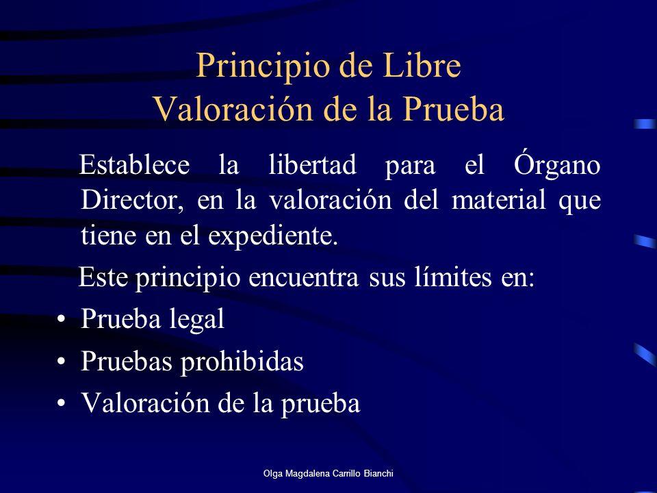 Principio de Libre Valoración de la Prueba
