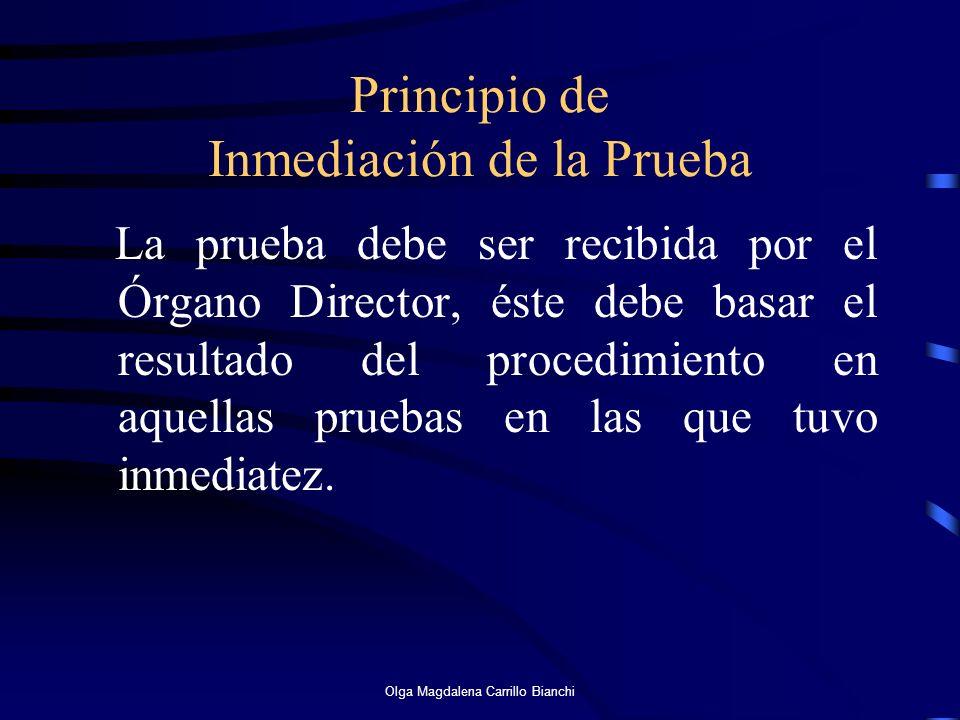 Principio de Inmediación de la Prueba