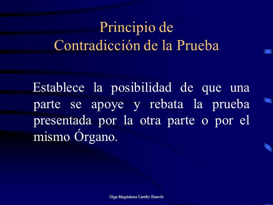 Principio de Contradicción de la Prueba