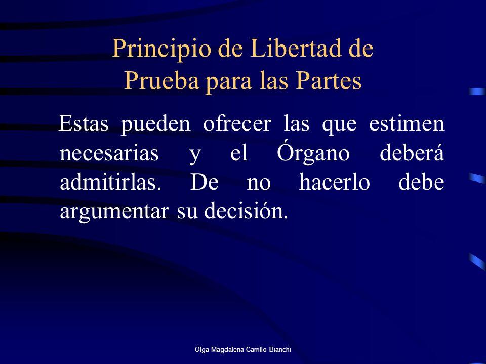 Principio de Libertad de Prueba para las Partes