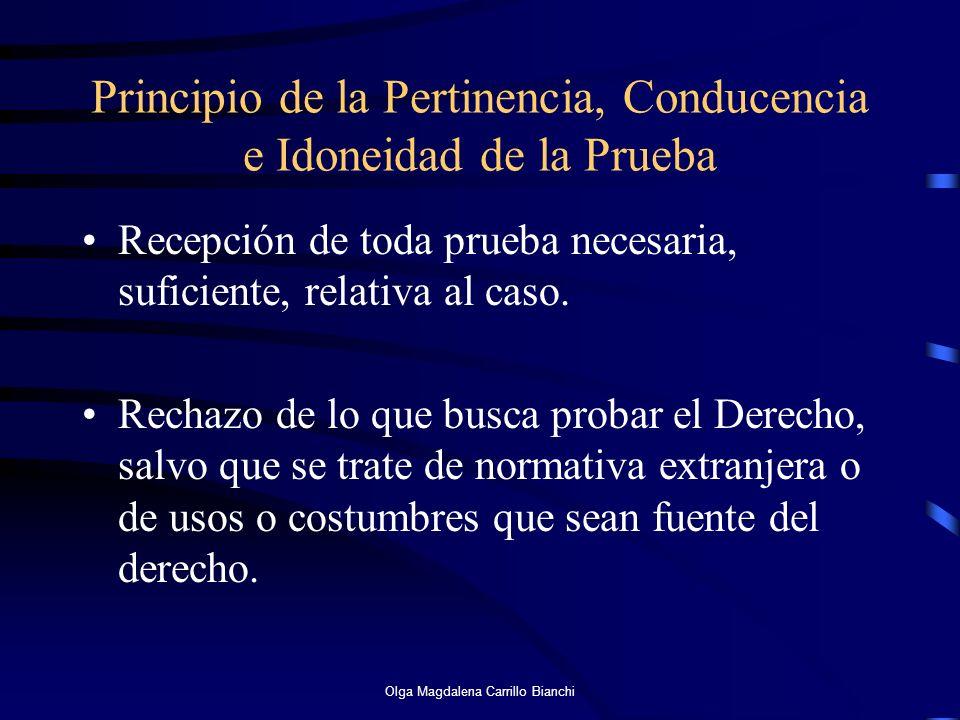 Principio de la Pertinencia, Conducencia e Idoneidad de la Prueba