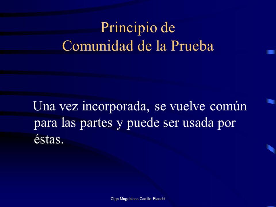 Principio de Comunidad de la Prueba