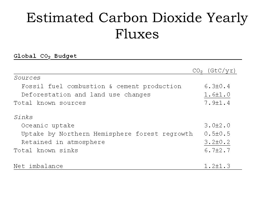 Estimated Carbon Dioxide Yearly Fluxes