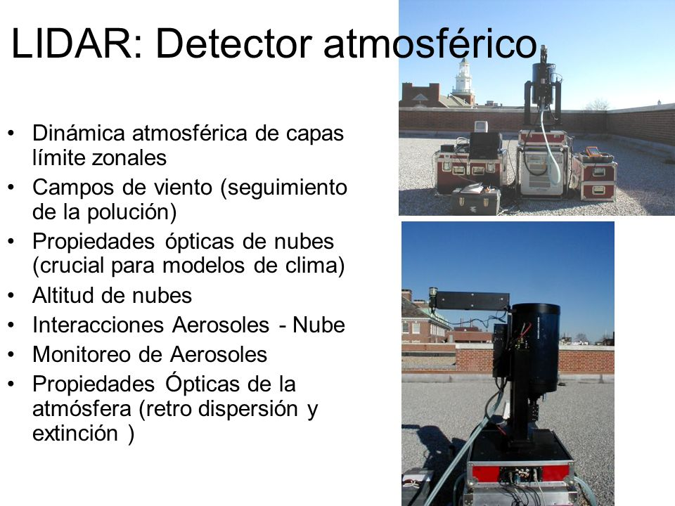 LIDAR: Detector atmosférico