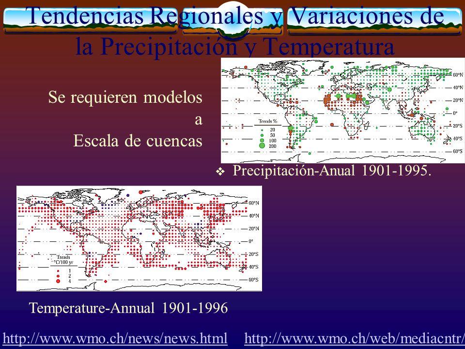 Tendencias Regionales y Variaciones de la Precipitación y Temperatura