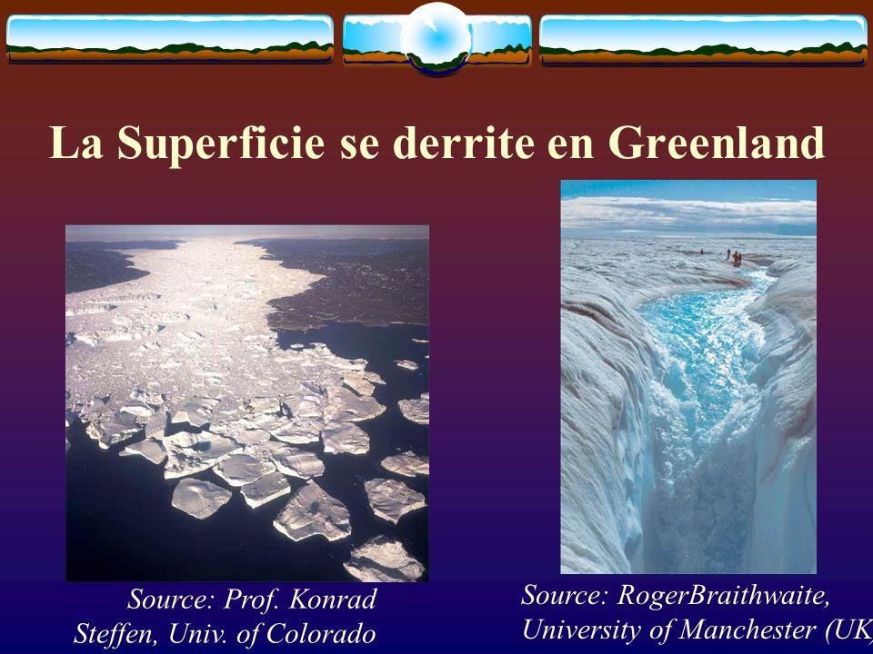La Superficie se derrite en Greenland