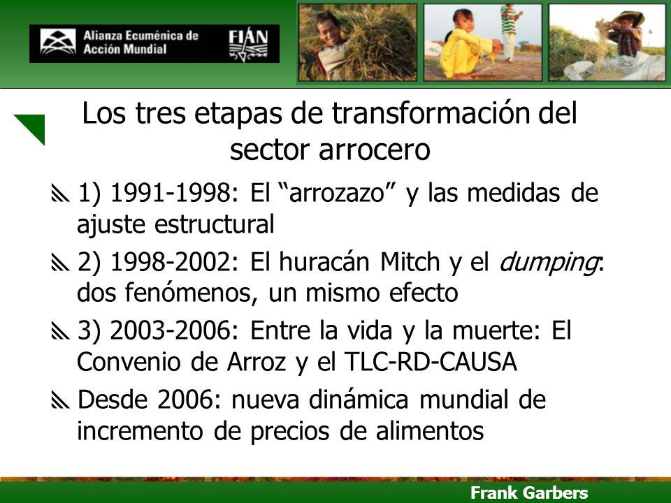 Los tres etapas de transformación del sector arrocero