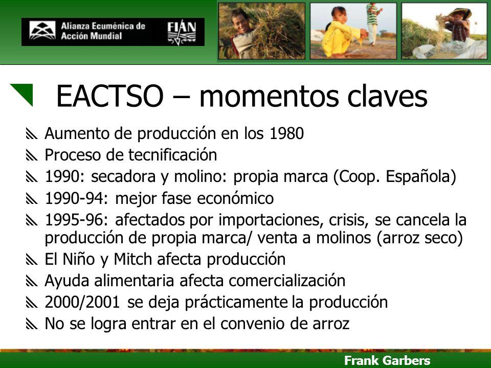 EACTSO – momentos claves