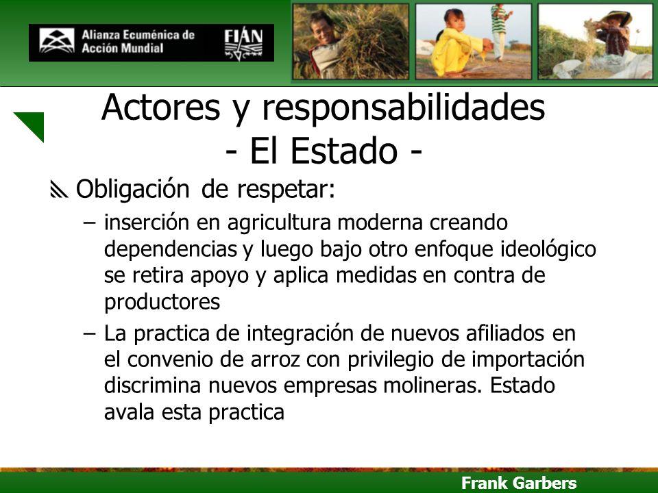 Actores y responsabilidades - El Estado -