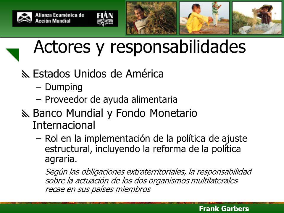 Actores y responsabilidades