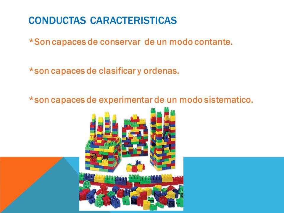 Conductas caracteristicas