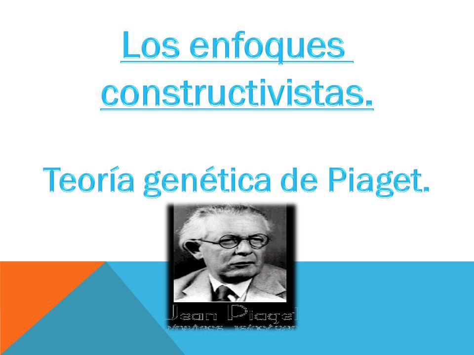Teoría genética de Piaget.