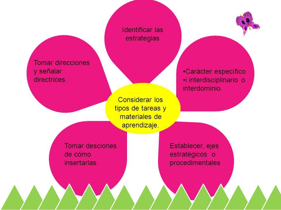 Identificar las estrategias