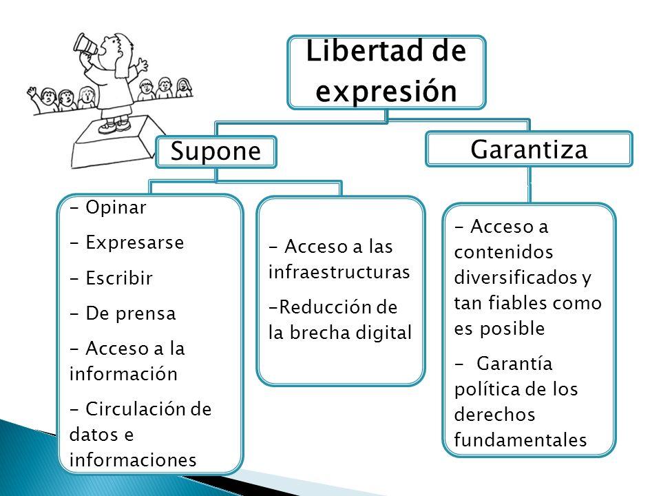 Libertad de expresión Garantiza Supone - Opinar