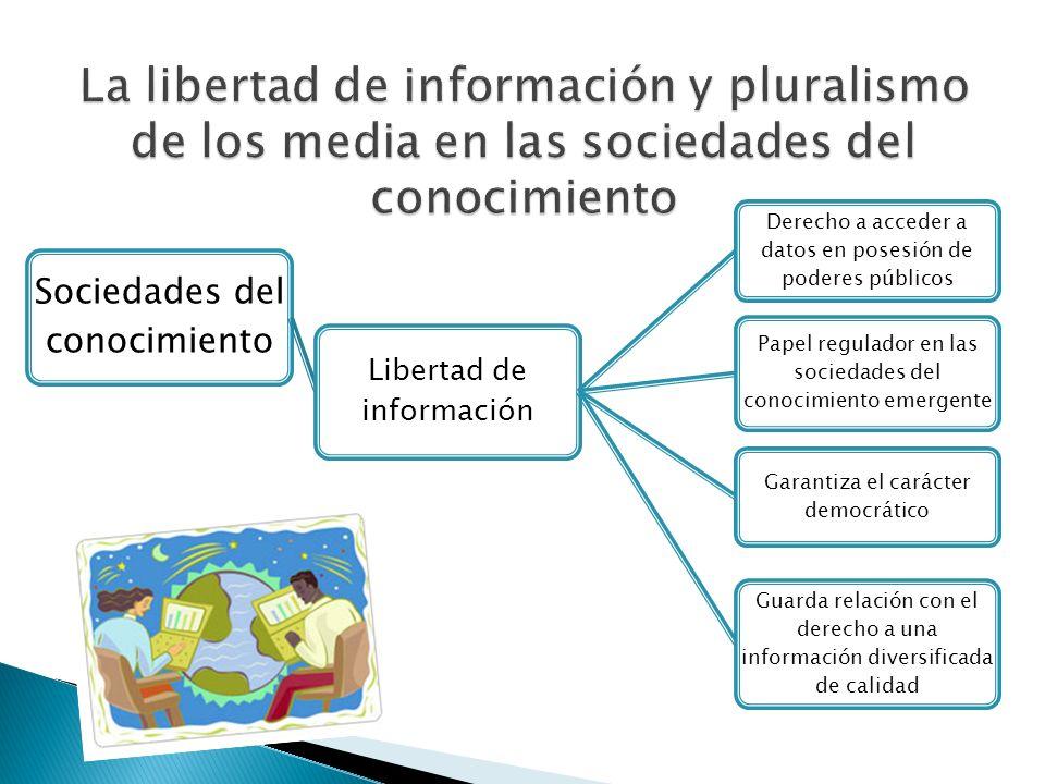 La libertad de información y pluralismo de los media en las sociedades del conocimiento