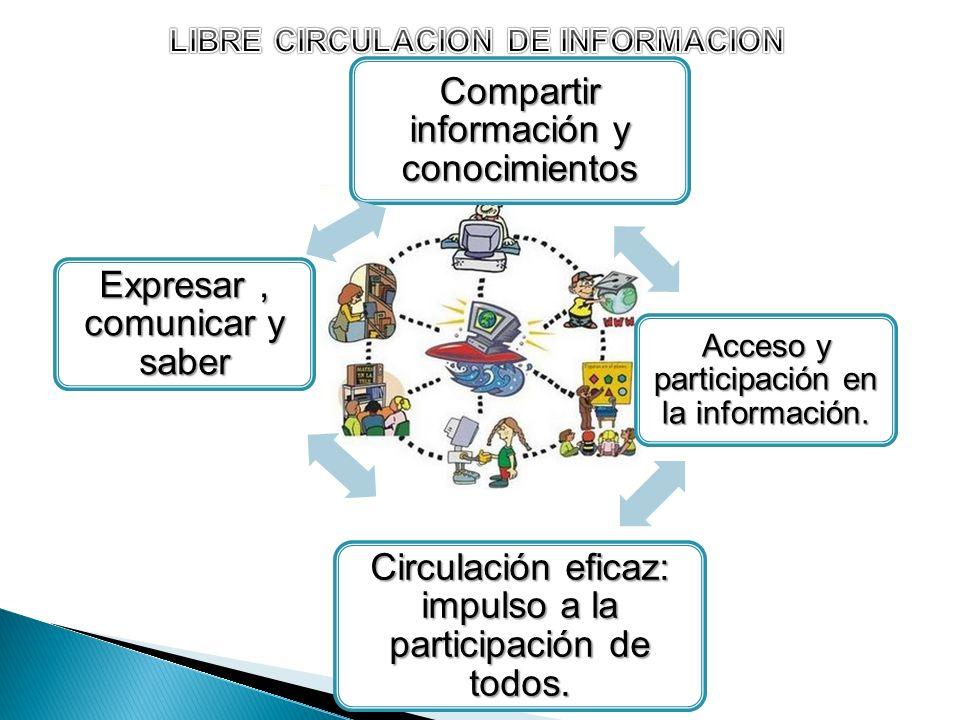LIBRE CIRCULACION DE INFORMACION