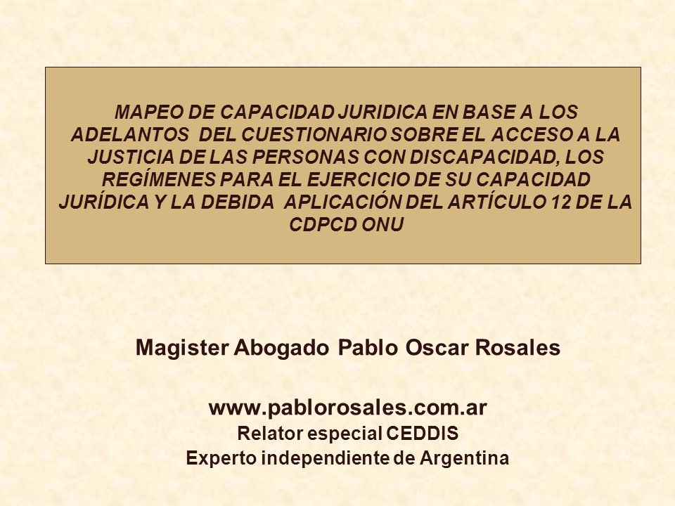 Magister Abogado Pablo Oscar Rosales www.pablorosales.com.ar